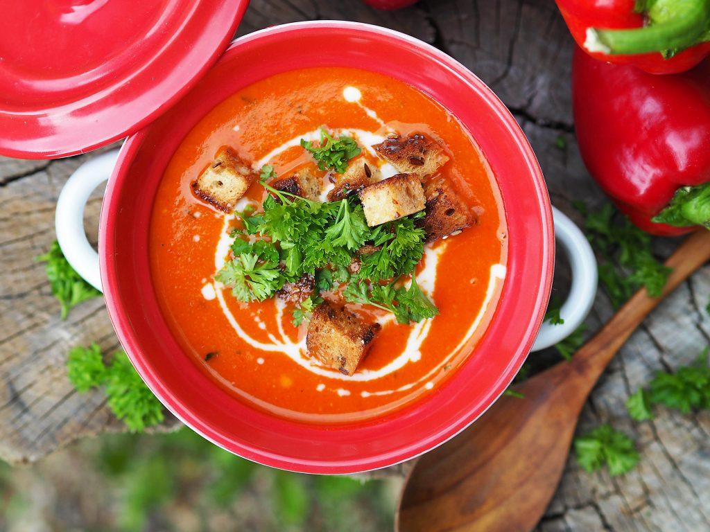 papriková polévka vegan recept